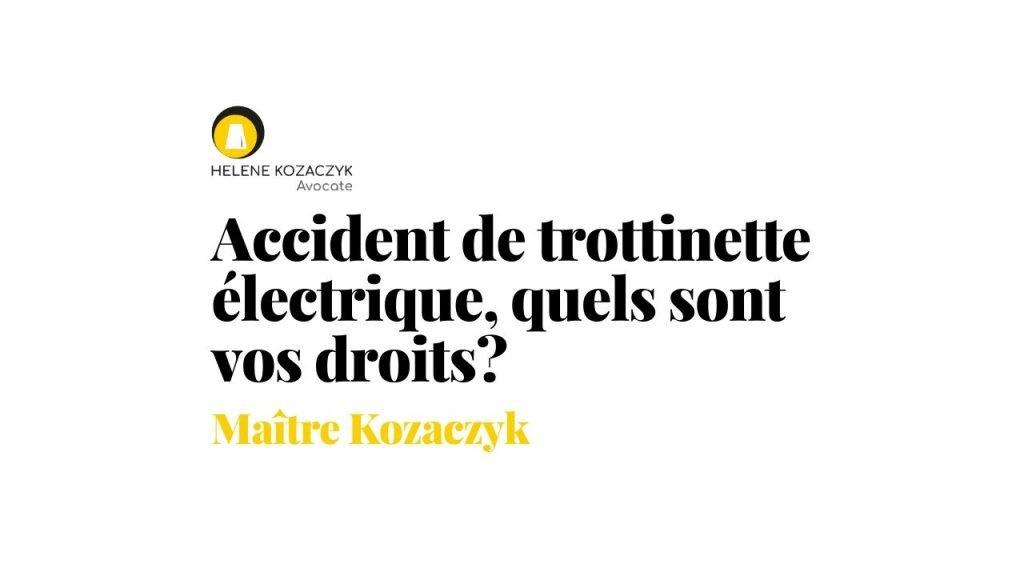 Vidéo accident de trottinettes hélène Kozaczyk